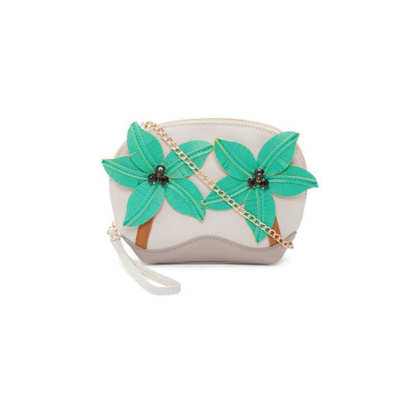 Novelty Floral Crossbody ($15) ❤ liked on Polyvore featuring bags, handbags, shoulder bags, green shoulder bag, floral handbags, zip shoulder bag, floral purse and green crossbody