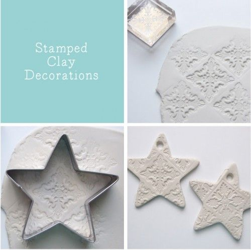 Pretty DIY Embossed Clay Star Decorations | Shelterness
