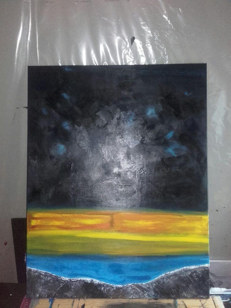 Høst.  Acrylic on canvas.
