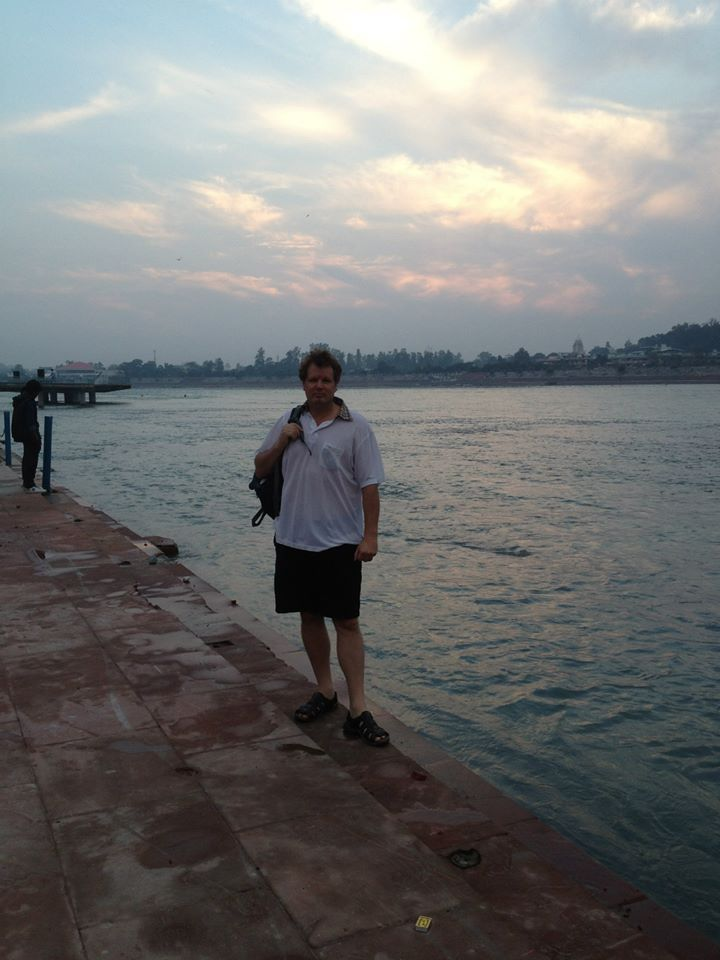 http://taojourneys.com/journey-to-india  Enjoying sunset over the Mother Ganga aka Ganges River in Rishikesh.