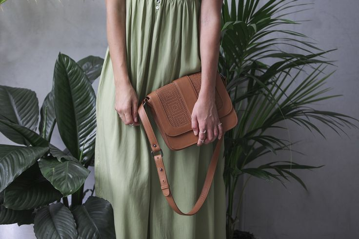 Frankie Jones The Label editorial: Love Like No Other sage green maxi dress apired with tan leather satchel bag - Summer Style | Summer Fashion | Summer Outfit | Boho Luxe