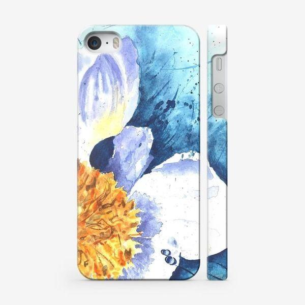 Чехол iPhone «Белый  цветок» #art_craft #irina_kutuzova