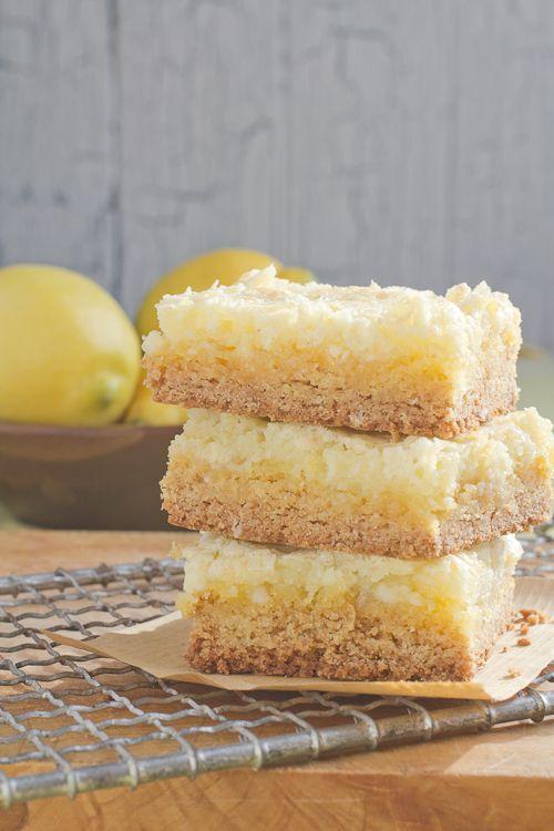 Lemon Chess Cake Squares  Easy peasy, and lemony...=)