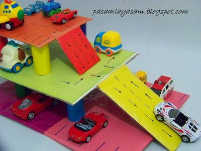 Paşamla Yaşam Kartondan Otopark paperboard parking