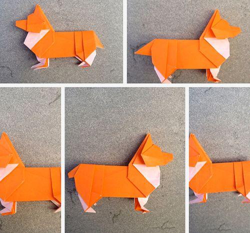 Make an origami corgi   How About Orange