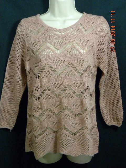 NEW  LADIES LIGHTWEIGHT 100% POLYESTER TAN JUMPER  SIZE S/M/L