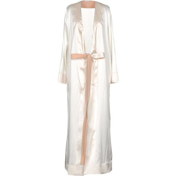 La Perla Robe ($1,071) ❤ liked on Polyvore featuring intimates, robes, ivory, silk dressing gown, dressing gown, silk robe, la perla robe and silk bathrobe