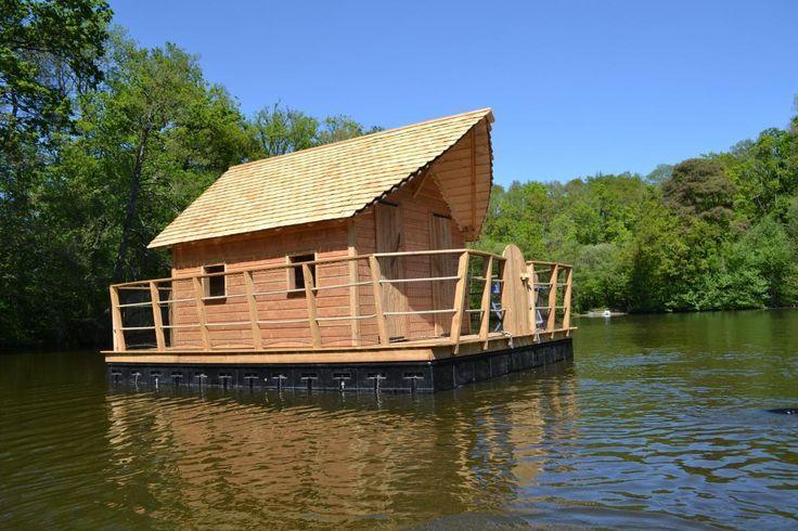 Les 25 meilleures id es concernant le tableau cabane sur l 39 eau maison f - Maison flottante a louer ...
