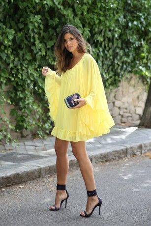 Yellow for today!  autum casual dress New Arrivals   ChicDiva