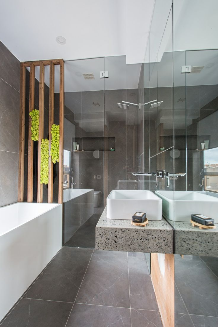 Shower drain furthermore stone look wall tile additionally modern - This Stylish Bathroom Appeared On The Block Fans Vs It Features Nu Marble Grigio Tile From Beaumont Tiles