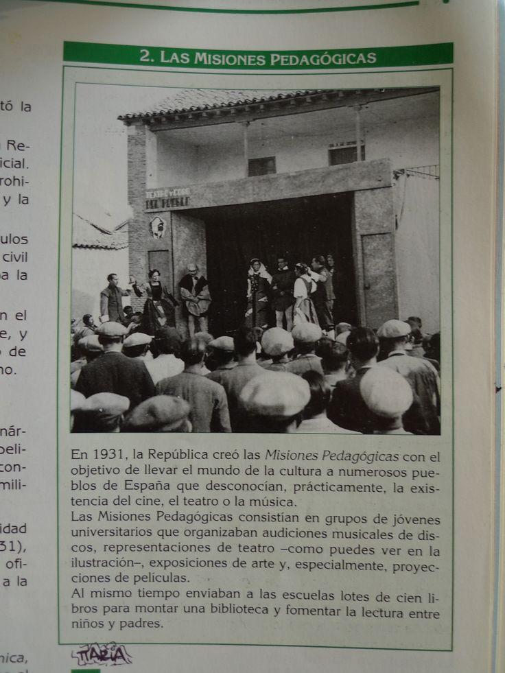 Misiones pedagógicas, España 1931