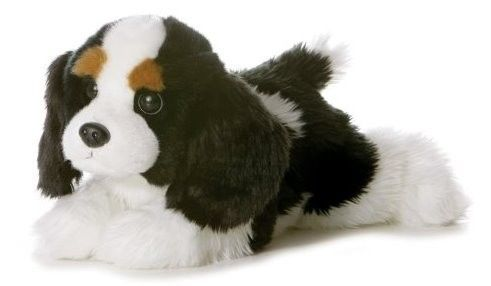 "12"" Aurora Plush Puppy Dog Cavalier King Spaniel Flopsie Stuffed Animal Toy NEW #Aurora"
