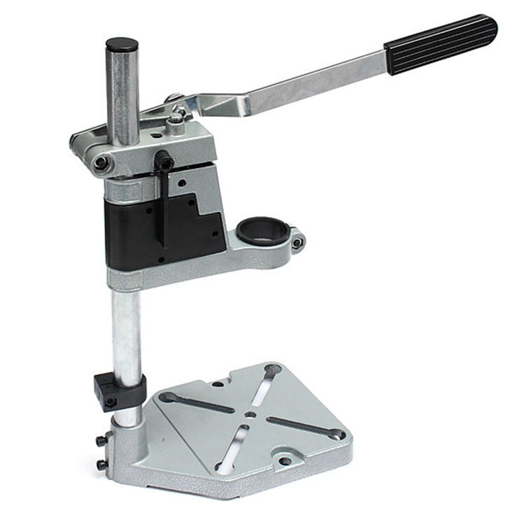 Dremel Electric Drill Stand Double Clamp Base Frame Drill Holder Power Rotary Tools Accessories Bench Drill Press Stand DIY Tool