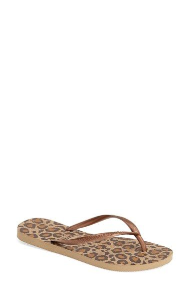 Havaianas 'Slim Animal Print' Flip Flop (Women) available at #Nordstrom