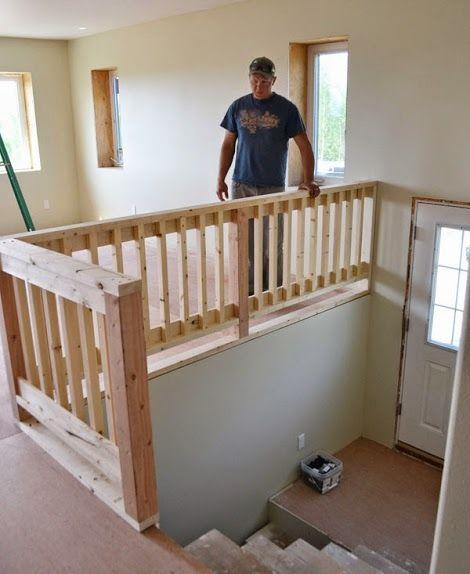 Best 25+ Wood stair railings ideas on Pinterest   Porch ...