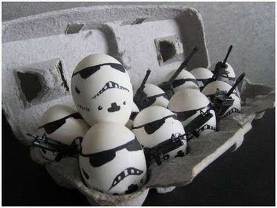 Clone Trooper eggs:  Coach Dogs, Storm Troopers, Storms Troopers,  Carriage Dogs, Stars War, Star Wars, Stormtroopers, Easter Eggs, Starwars