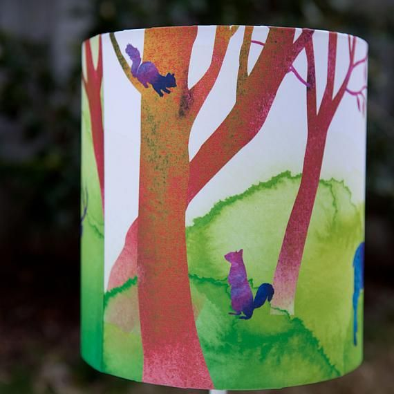 Side View of Misty Morning Table Lamp designed in Australia by Micky & Stevie, AUD $59.95 online from indie art & design