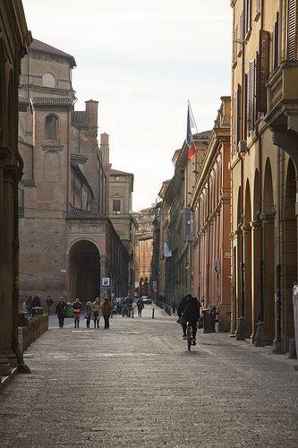 Via Zamboni, Bologna, Italy