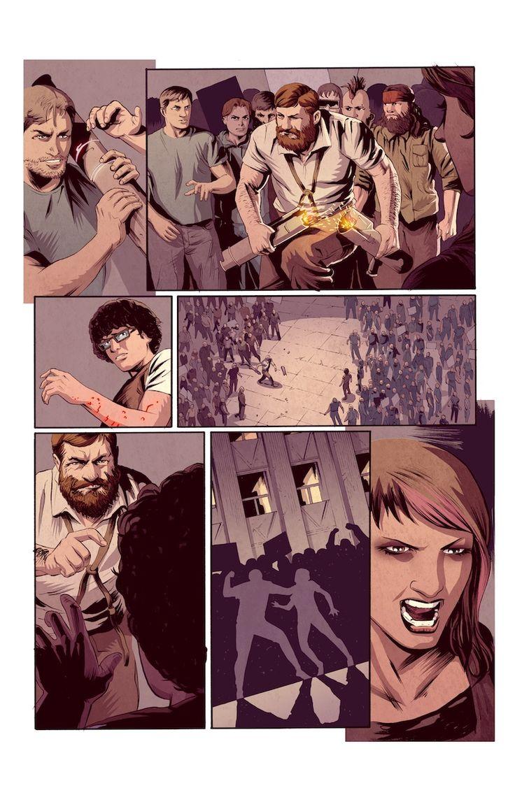 Bleedback comic book page 06 #Bleedback #comicbook #scifi