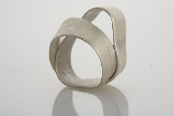 Sterling Silver Abstract Wraped statement ring by Gioiellibyliat, $115.00