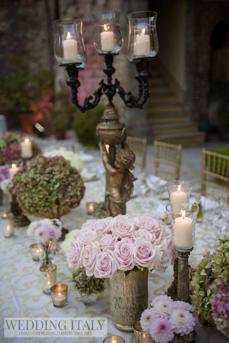 #CastelloDiModanella #PhCarloCarletti #NewlywedsLongTable #SweetAvalanche #PinkDahlia #Hydrangeas #OriginalChurchOldGoldCandlestick #GoldAngelCandlestick #Candles