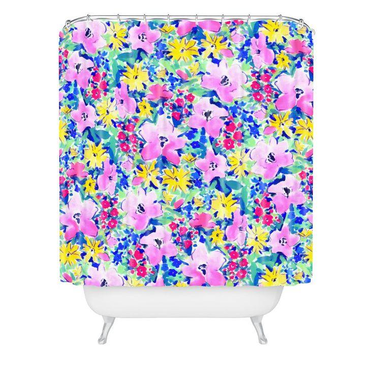 Jacqueline Maldonado Floreale Blue Shower Curtain | DENY Designs Home Accessories