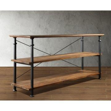 Factory TV Stand - Blend of vintage industrial and contemporary styles.