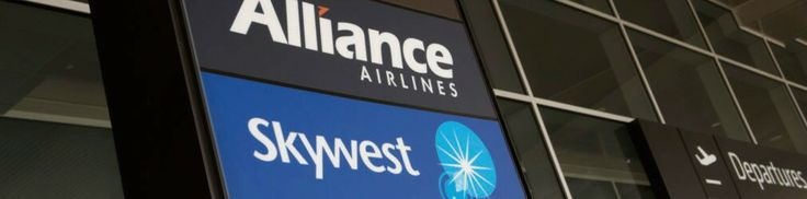 Skywest Airlines Sign Perth Terminal 2