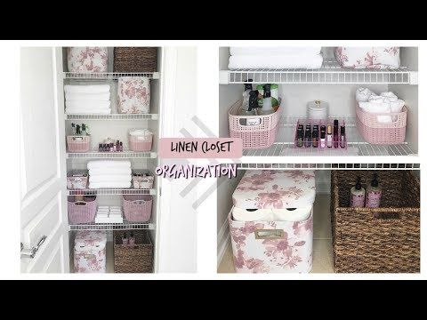 Linen Closet Organization! Spring Clean With Me! – YouTube