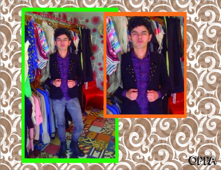 Colores neutros: desatancando de el morado m (Pantone 2607), negro el la chaqueta (Pantone process blank) igualmente las botas y un jean color Denin.
