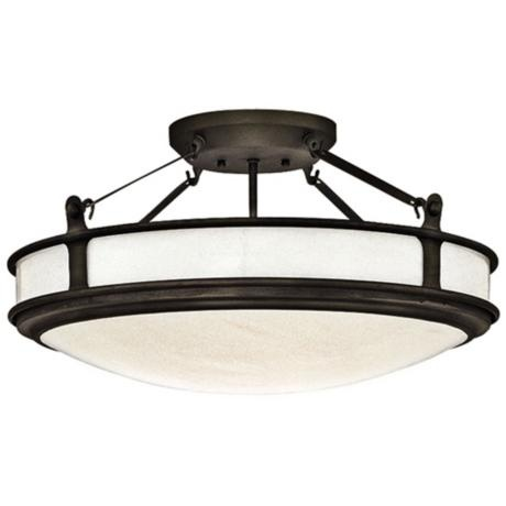 """Forecast MVP Collection 22"""" Wide Iron Ceiling Light"""