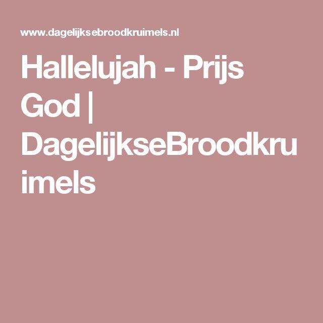 Hallelujah - Prijs God   DagelijkseBroodkruimels