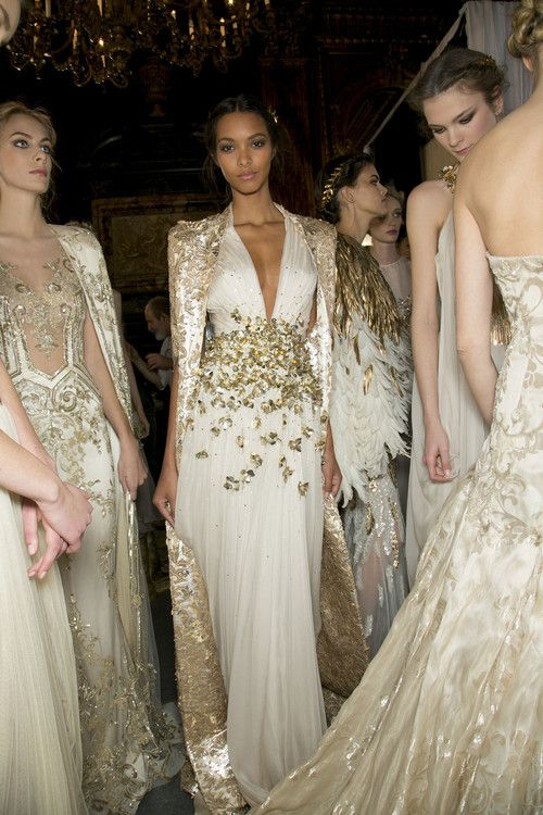 element-e:  donteversaygoodbye:  victorielle:  Zuhair Murad spring 2013 couture backstage  What a gorgeous dress!!  goddess