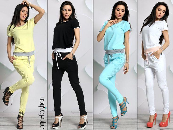 Dresowy komplet TOTAL gładki spodnie + tshirt 515