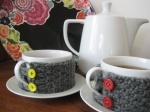 Knitted Coffee Cup Warmers