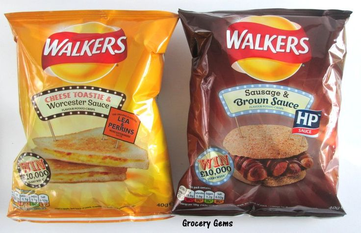 Walkers Cheese Toastie & Worcester Sauce And Sausage & Brown Sauce Crisps