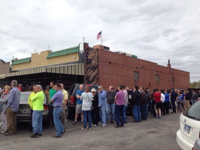 Burn Co Barbecue's original location is at 1738 South Boston Avenue in Tulsa. When the doors open at 10:30 a.m. there's already a line forming outside the building. This location is only open for lunch, Monday - Saturday from 10:30 a.m. to 2:30 p.m. (or until sold out).