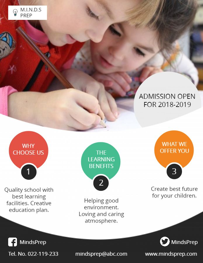 School Admission modern poster and flyer template School Admission