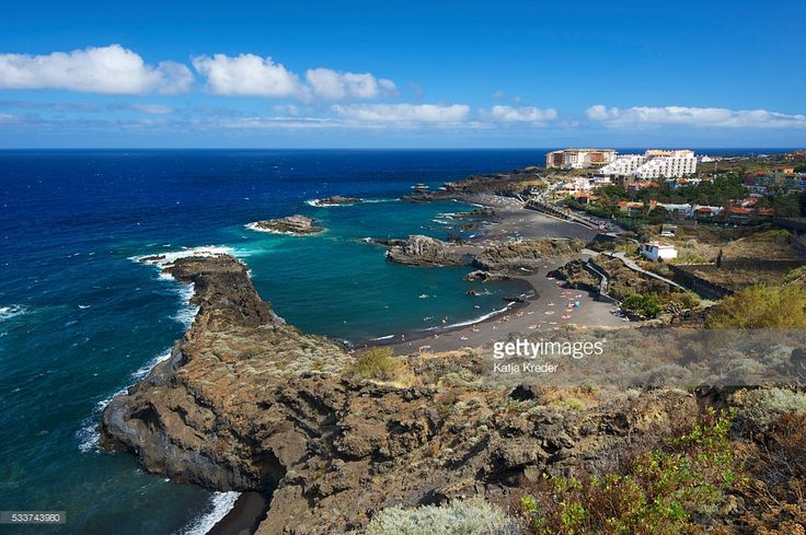 Foto de stock : Playa de los Cancajos, La Palma, Canary Islands, Spain, Europe