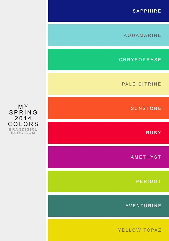 My Spring Capsule Ish Wardrobe: My Spring 2014 Color Combos