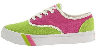 Women's pink and green PRO-Keds sneakers #prettypearlsinc