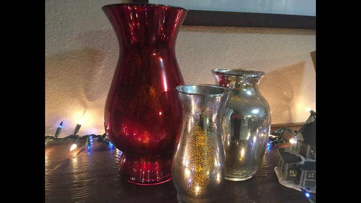 Como pintar jarrones/mercury glass