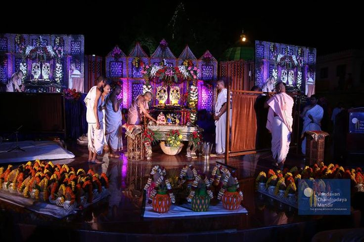 The stage set for the ceremonial bath