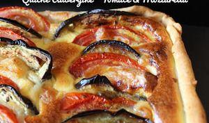 Quiche Aubergine, Tomate et Mozzarella