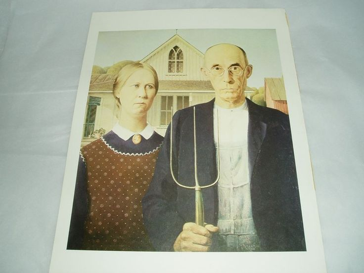 ART PRINT POSTER OF AMERICAN GOTHIC BY GRANT WOOD 1930 #Realism