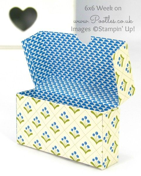 Pootles 6x6 Week #7 Fold Over Box Tutorial Open