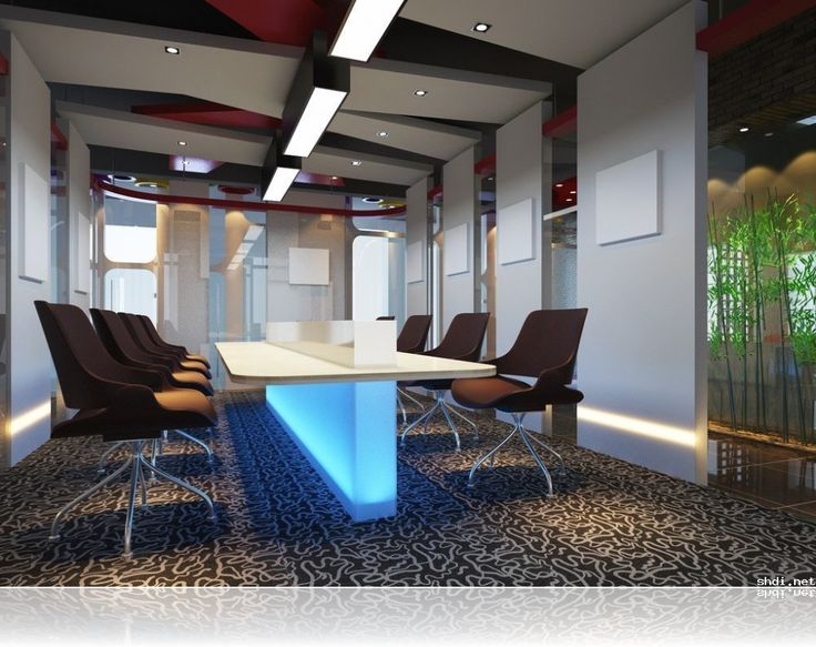 Luxury office meeting room interior design ideas with brown chairs interior design