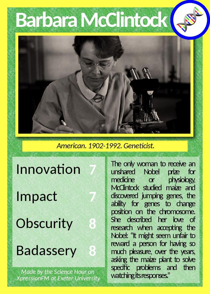 barbara mcclintock s contribution to science Both rosalind franklin and barbara mcclintock made significant contributions to the science during the 20 th century this article focuses on the comparisons and contrasts between the two this article focuses on the comparisons and contrasts between the two.