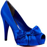 Paris Hilton's Blue Destiny - Royal Blue Satin for 94.99 direct from heels.com