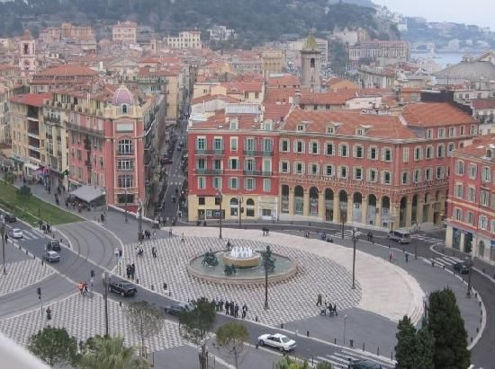 view from the ferris wheel - Place Massena